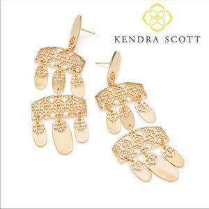 Kendra Scott Emmet Gold Statement Earrings